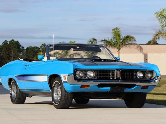 Mark Pieloch's 1971 Ford Torino convertible fetched $39,000 for the Pieloch Pet Adoption Center, operated by the Capital Humane Society in Lincoln, Nebraska.