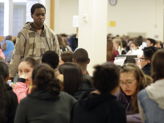 Edison Middle School student Ismail Ali finds a place