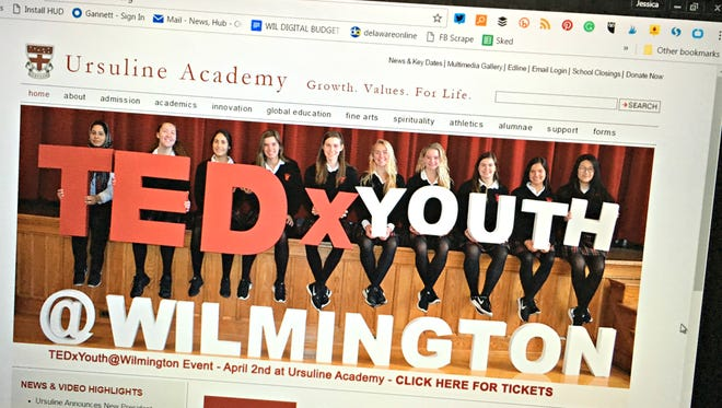 Ursuline Academy will host TEDxYouth@Wilmington April 2.