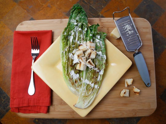 Grilled Caesar Salad with Grilled Romaine and Grilled