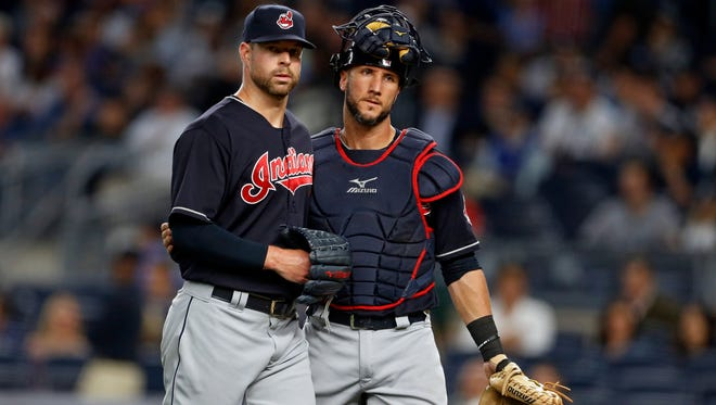 """Corey Kluber is even more the """"Klubot"""" this year, with 215 strikeouts and just 33 walks."""
