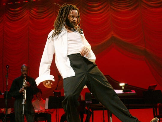 Tap dance sensation Savion Glover, pictured Jan. 4, 2005 at the Joyce Theater in New York.