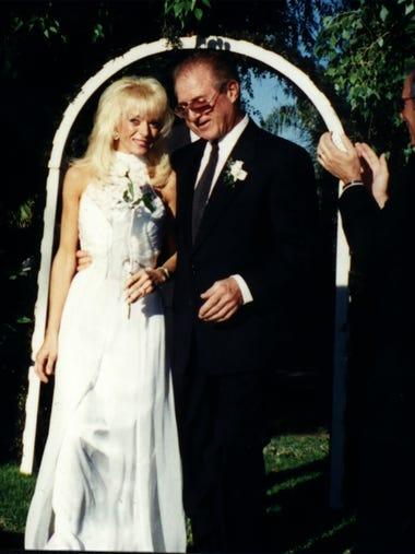 Valerie Pape on her wedding day, with husband Ira Pomerantz.