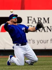 Iowa Cubs outfielder Mark Zagunis made a small adjustment to his swing that has helped his game in a big way.