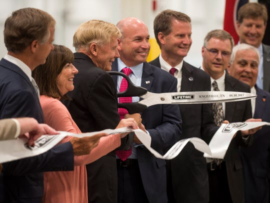 Officials cut the ribbon for Lifetime Products' new