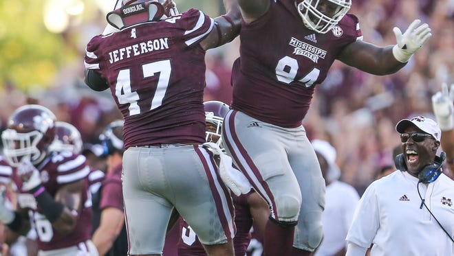 Mississippi State's A.J. Jefferson and Nelson Adams play their last game at Davis Wade Stadium on Saturday.