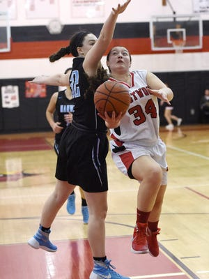Senior forward Samantha McClutchy scored 19 points to lead Westwood to a 51-33 victory over Mahwah on Friday night. During the game, McClutchy became the Cardinals' all-time leading scorer.