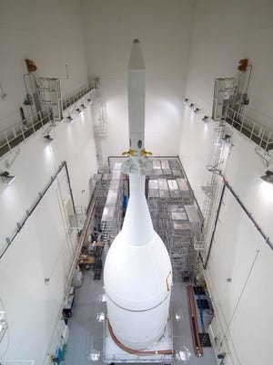 NASA's Orion spacecraft is set to roll out of the Launch Abort System Facility (LASF) at NASA's Kennedy Space Center in Florida to its launch pad at nearby Cape Canaveral Air Force Station's Space Launch Complex 37 today in preparation for its first space flight next month.
