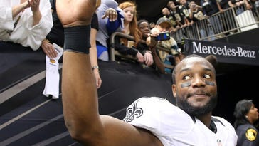 New Orleans Saints cornerback Delvin Breaux (40) waves to fans after the second half of an NFL football game against the Atlanta Falcons in New Orleans. Even though the Saints' season hasn't gone as head coach Sean Payton would have liked, it's clear he'll still fondly remember 2015 for the way Breaux's rough road to the NFL came to fruition in New Orleans.