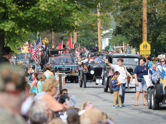 The Grand Parade, which begins this year at 2 p.m., is the annual highlight of the Apple Festival, according to organizers.