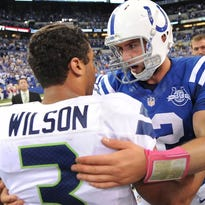 The Seattle Seahawks' Russell Wilson and Indianapolis Colts' Andrew Luck could be the next young NFL quarterbacks with megacontracts.