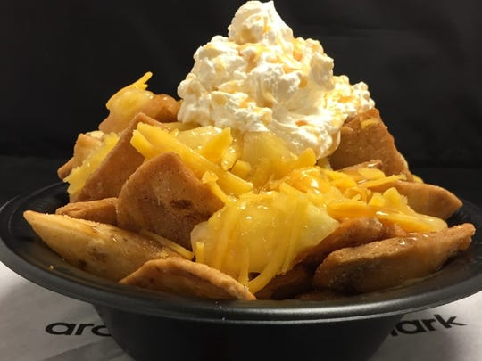 New apple pie nachos offered at Coors Field in 2017.