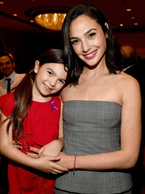 Gal Gadot, right, bonded with 'The Florida Project' star Brooklynn Prince at the AFI Awards on Friday.
