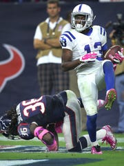 Texans killer: In his last five games vs. Houston, T.Y. Hilton has 24 catches for 510 yards and five scores.