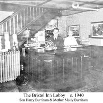 The Bristol House dining room circa 1915.