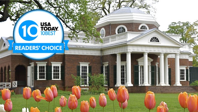 Thomas Jefferson's Monticello is one of 20 nominees for Best Historic Southern Attraction.