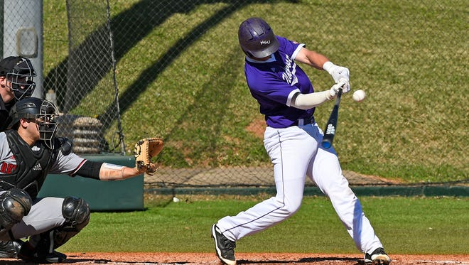 Northwestern State's Kelsey Richard has a pair of two-run singles in the Demons 10-3 win at Abilene Christian Friday night.