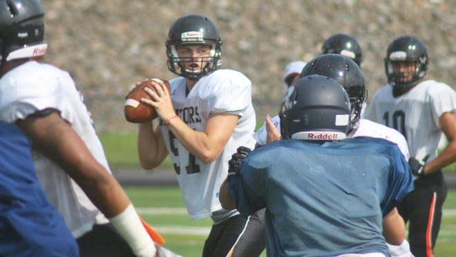 Hasbrouck Heights senior quarterback James Klenk has big shoes to fill this season as he takes over for graduated signal-caller Frank Quatrone.