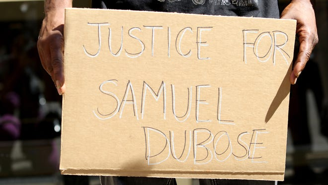 Friends and family of Samuel DuBose protested last Thursday outside of the Hamilton County Prosecutor's office.