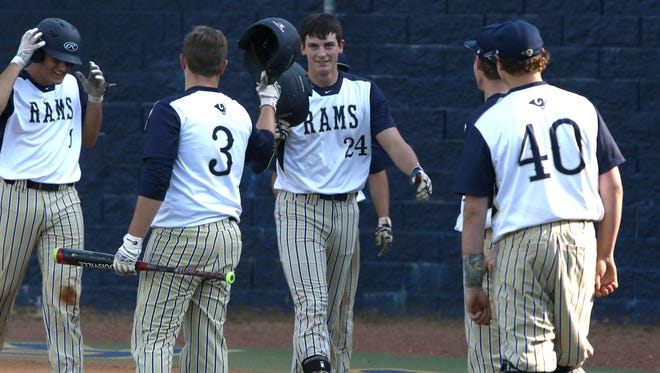 Roberson junior Garrett Blaylock (24) is the Citizen-Times All-WNC Baseball Player of the Year.