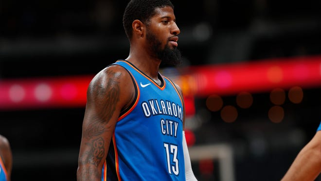 Oklahoma City Thunder forward Paul George is happy with his new team but has some regrets about how he left the Indiana Pacers.