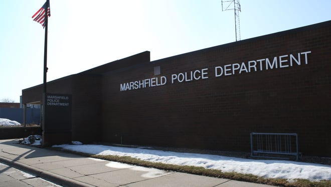 Jacob Byk/USA TODAY NETWORK-Wisconsin The exterior of the Marshfield Police Department seen on March 7, 2016.