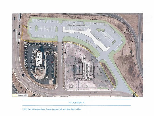 The proposed changes to the VDOT Park and Ride lot