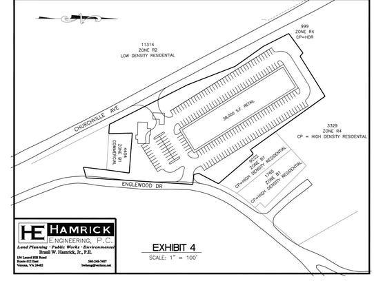 Potential site plans for retail development.