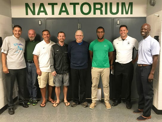 On hand for the renaming of West Bloomfield Natatorium