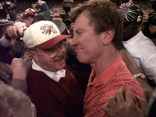 Steve Spurrier and Bobby Bowden