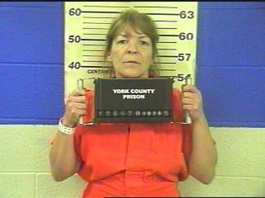 Amy Desales Poole, 52, of Stewartstown, charged in connection with striking a state police trooper.