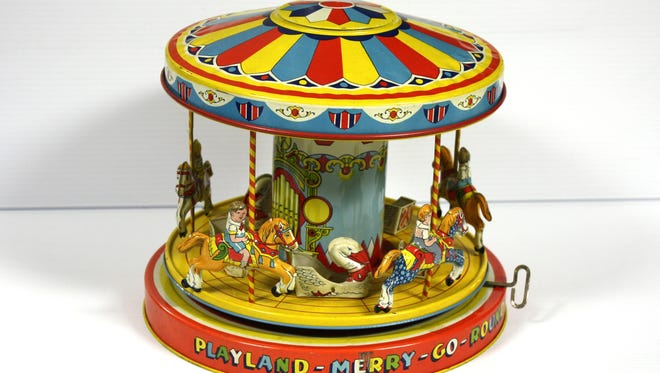 The Playland Merry Go Round is one of many throwback toys features in a new exhibit at the New Jersey State Museum.
