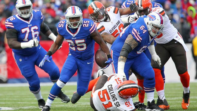 LeSean McCoy went over the 1,000-yard rushing plateau Sunday in the victory over the Browns.