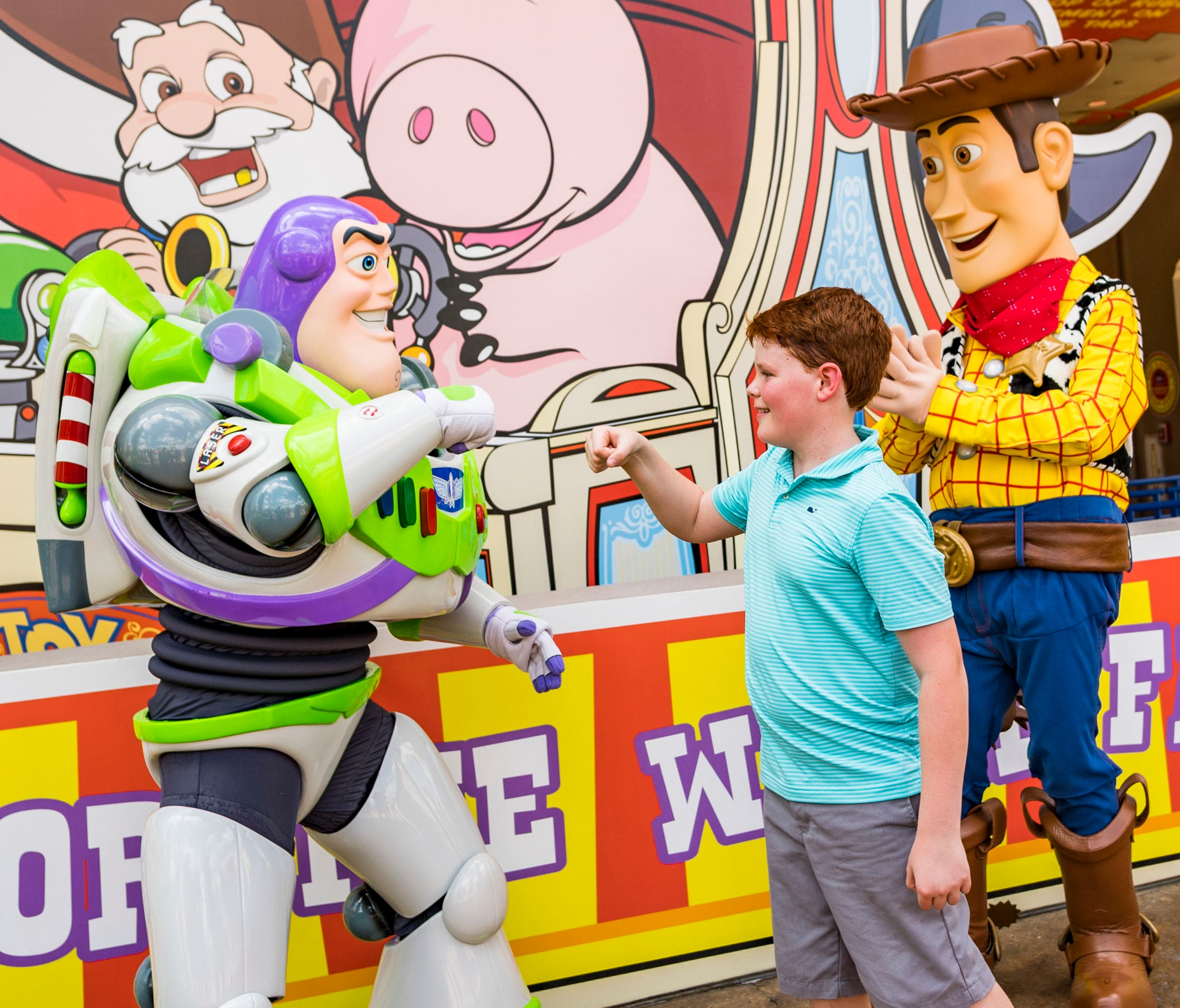 Beloved characters from Pixar Animation StudiosÕ Toy Story films, including Buzz Lightyear and Woody, await guests who visit Toy Story Land at DisneyÕs Hollywood Studios. The 11-acre land transports Walt Disney World guests into the adventurous outdo