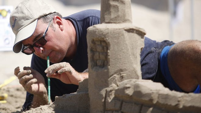 Sand sculpture is part of the Hueneme Beach Festival, which will return in August for the first time in six years.
