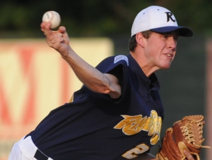 Richmond's Chad Whitmer pitches during Friday's game with West Virginia.