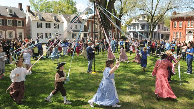The May Pole dance, shown being done by North Dover Elementary, is a signature event of Dover Days.