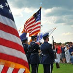 The Patrick Air Force Base Honor Guard did the Presentation of the Colors. Hundreds showed up to show their respect at the Cape Canaveral National Cemetery Memorial Day Observance in Mims Monday afternoon.