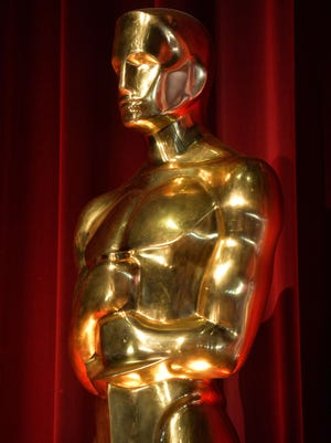 An Oscar statuette on display during the Academy Awards nominations at the Samuel Goldwyn Theater.
