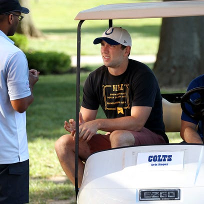 Indianapolis Colts player arrive for training camp