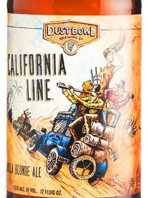 California Line Vanilla Blonde Ale, from Dust Bowl Brewing Co., in Turlock, Calif., is 4.5% ABV.