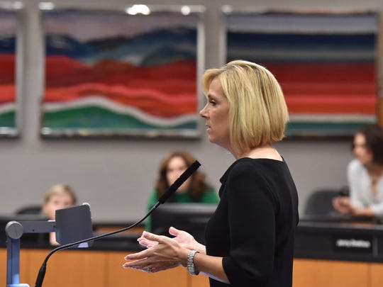 Moments from the Reno Works program's second graduation celebration at the Reno City Council Chamber on Feb. 9, 2016. Councilwoman Neoma Jardon speaks a the event.