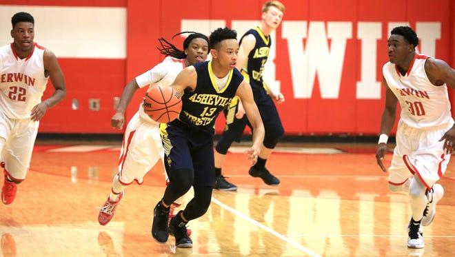 Asheville Christian Academy senior Jordan Shepherd (13).