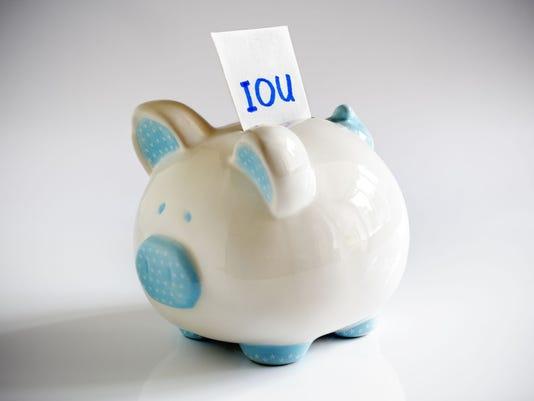 IOU Piggy Bank