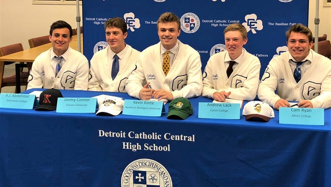 Catholic Central announced a second college signing day with five more student-athletes.