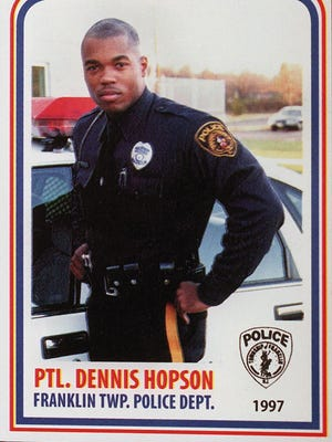 Dennis Hopson in 1997 when he was a patrolman with the Franklin Township Police Department. Now a sergeant, he is suing the department, chief and other officials claiming he was discriminated against.