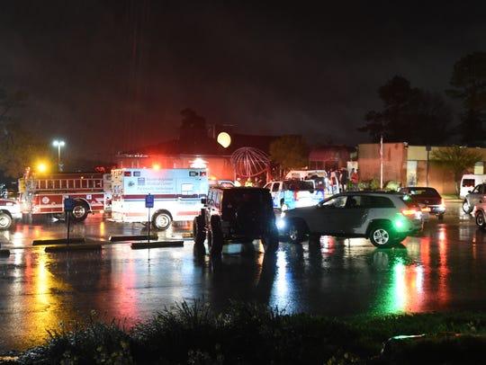 Emergency personnel respond to Hiram Shaddox Geriatric