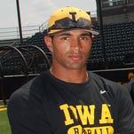 Iowa senior outfielder Kris Goodman used the power of Twitter to score a wood bat from Minnesota Twin, Torii Hunter.
