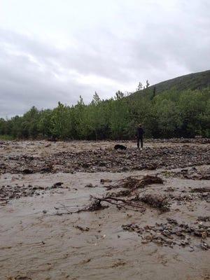 The Kantishna area of Alaska's Denali National Park was flooded on June 26, 2014.