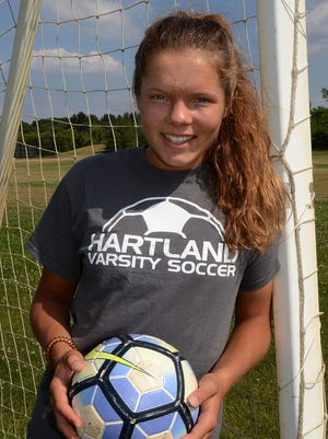 Hartland's Caroline Halonen is Livingston County soccer Player of the Year.